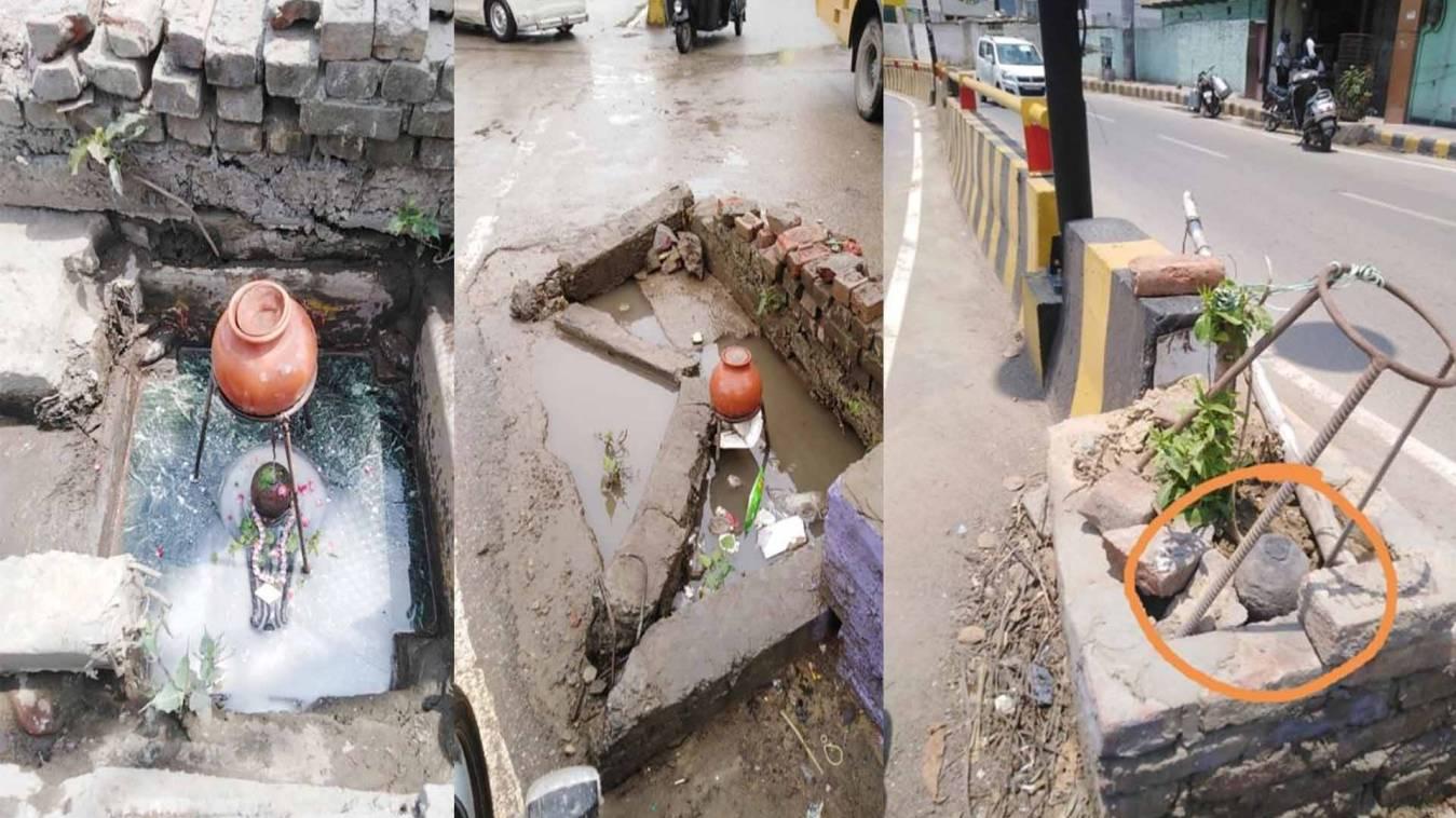शर्मनाक: काशी में सीवर स्नान के बाद अब कूड़े में पड़े भगवान!, हो रहा जी भर के अत्याचार