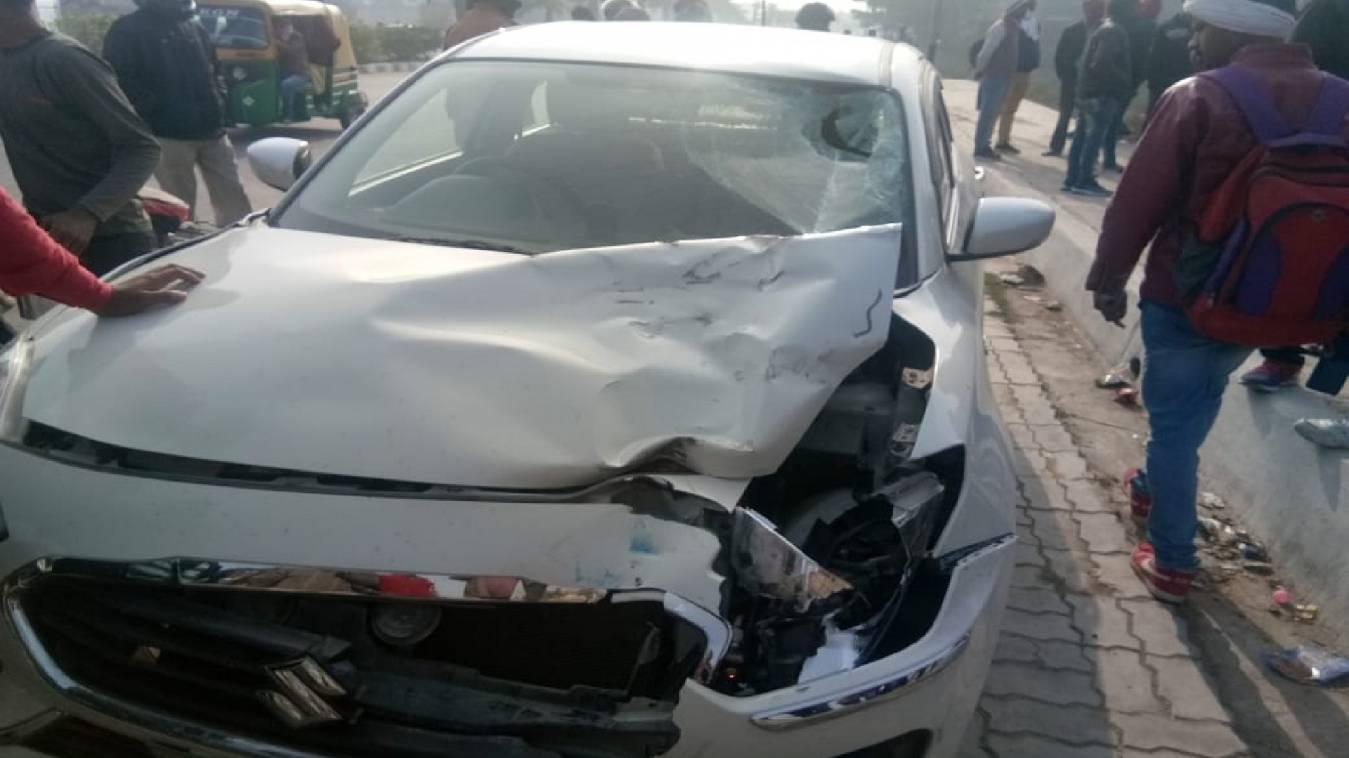 चार पहिया वाहन ने नर्सिंग की छात्रा को मारी टक्कर