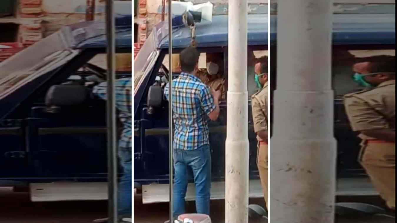 मास्क चेकिंग के दौरान युवक ने दारोगा को थप्पड़ जड़ा