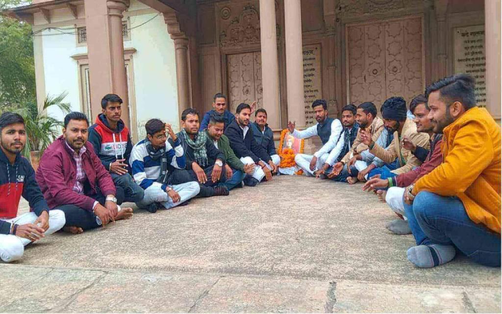 भारत माता मंदिर पर समाजवादी छात्र सभा के द्वारा मनाया गया स्वामी विवेकानंद जयंती